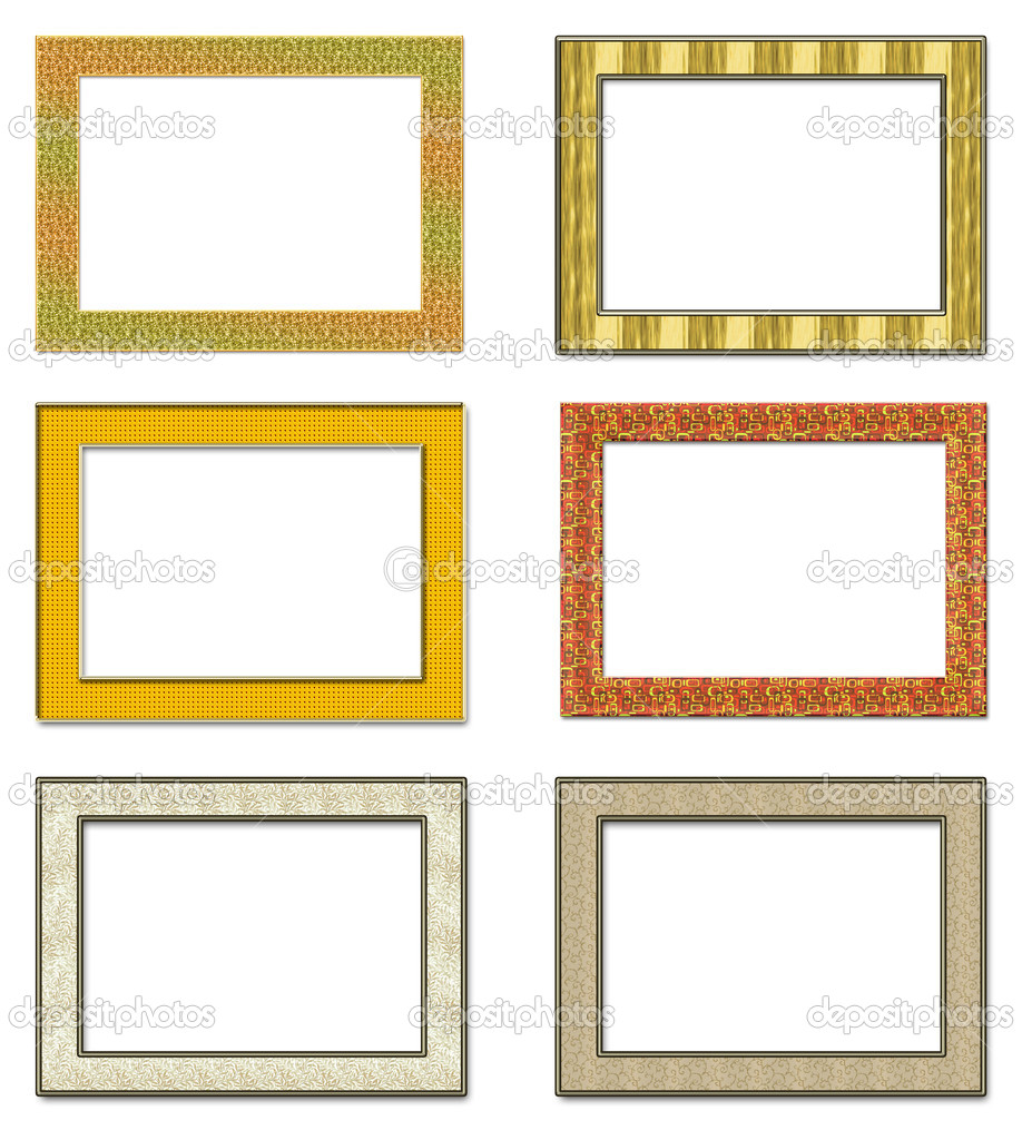 Collection vertical metal photo frameworks. Isolated on a white background — Stock Photo #2984010