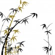 Silhouette of branches of a bamboo — Stock Photo
