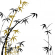 Stock Photo: Silhouette of branches of bamboo
