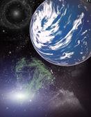 Bir gezegen. — Stok fotoğraf