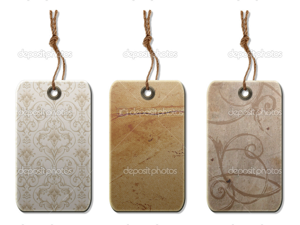 Gift tag in vintage style . Isolated on a white background. — Stock Photo #3105494