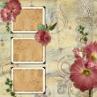 Vintage background with frames - Stock Photo