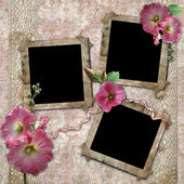 Vintage background with frames for photos. — Stock Photo