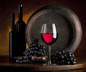 Still life of bottles of red wine — Stock Photo
