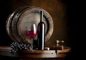 The still life with red wine — Stock Photo