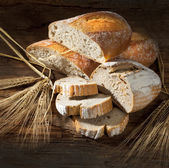 Still life with bread and ears — Stock Photo