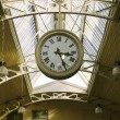 Big hanging public clocks - Stock Photo
