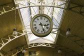 Big hanging public clocks — Stock Photo