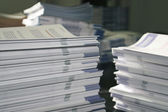 Handout Paper Piles — Stock Photo