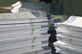 Handout Paper Piles — Stock Photo