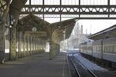 Plataforma de la estación del ferrocarril — Foto de Stock