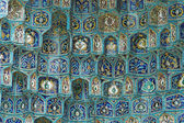 Fragment of a tiled wall — Stock Photo