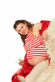 Mulher grávida sorridente — Foto Stock