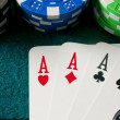 Poker of aces — Stock Photo