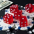 Gambling dices for Casinò games — Stock Photo