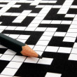 Crossword puzzle — Stockfoto