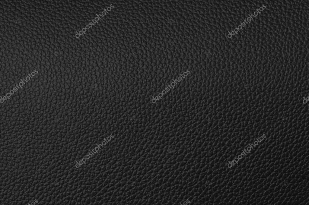 A natural black leather texture. close up. — Stock Photo #2748343