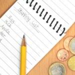 Handwritten shopping list — Stock Photo