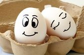 Uova sorridente — Foto Stock