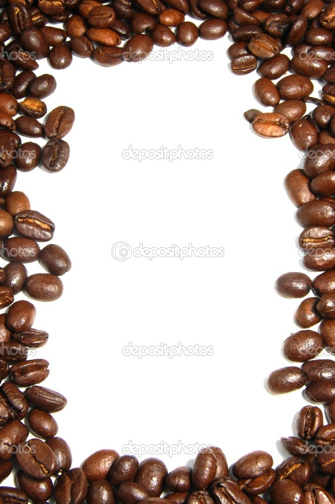 Coffee Bean Border Coffee beans frame - stock
