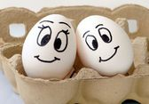 Smiling eggs — Stock Photo