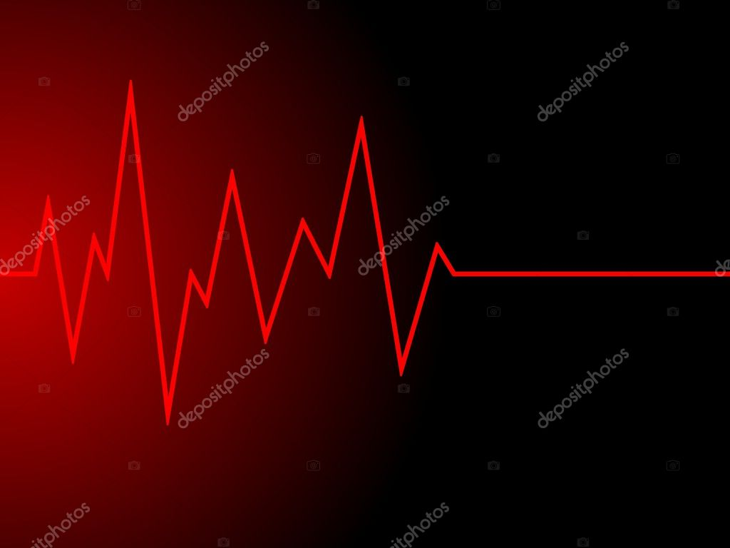 A red radio wave on black background  Stock Photo #3041240