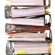 High stack of folders - Stock Photo