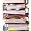 Stock Photo: High stack of folders