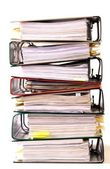 High stack of folders — Stock Photo
