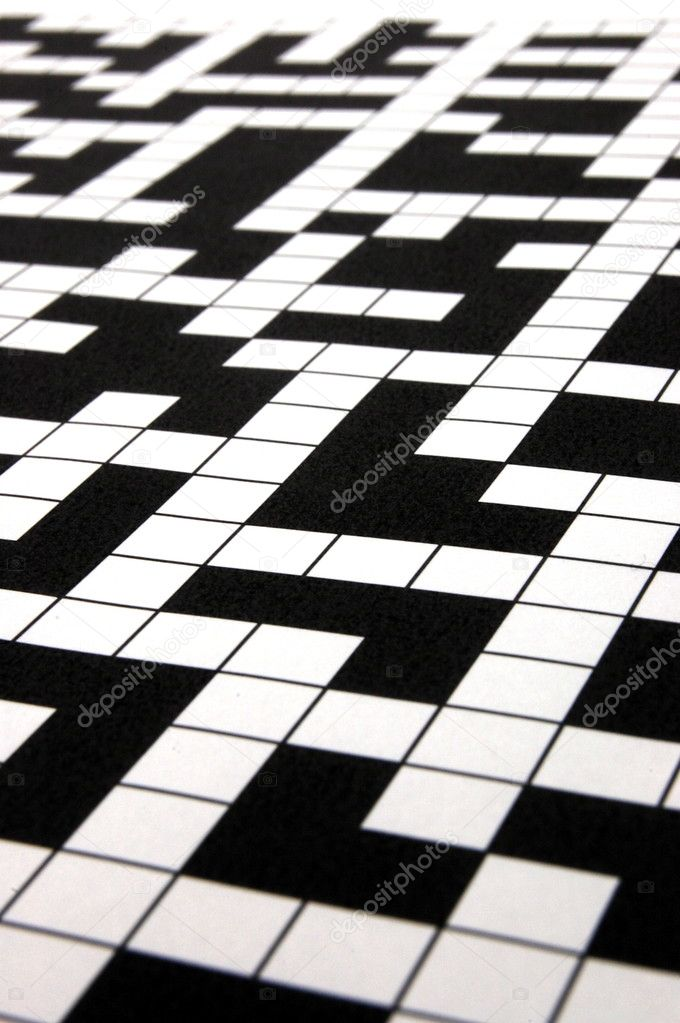 A shot of a blank crossword puzzle                                     — Stock Photo #3313890