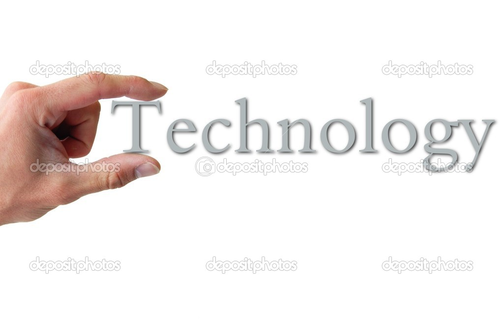 Technology Management Image: Hand Holding The Word Technology