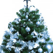 Decorated Christmas fir tree - Stock Photo