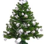 Decorated Christmas fir tree — Stock Photo