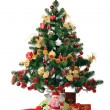 Decorated Christmas fir - Stock Photo