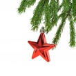 Christmas  red star — Stock Photo