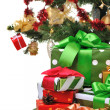 Decorated Christmas gifts — Stock Photo