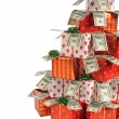 Stock Photo: Christmas gifts tree