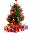 Decorated Christmas fir tree — Foto de Stock