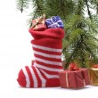 Santa stocking — Stock Photo