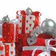 Christmas red gifts — Stock Photo