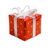 Rode gift van kerstmis — Stockfoto