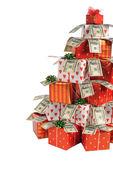 рождественская елка и подарки — Стоковое фото