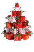 Haufen von geschenken — Stockfoto