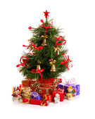 Decorated Christmas fir tree — Stock Photo