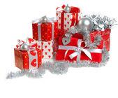 красный рождественские подарки — Стоковое фото