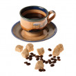 Stock Photo: Caffee cup and beans