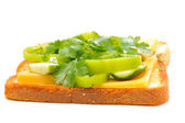 Sandwich mit grün — Stockfoto