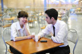 Business at lunch — Stock Photo