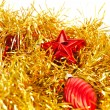 Red Christmas tree decorations — Stock Photo