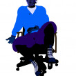 Male Hockey Player Sitting On A Chair Illustrati — Lizenzfreies Foto